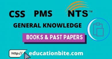 Download NTS CSS PMS Mcqs .educationbite.com