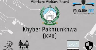 KPK worker welfare fund/board scholarship 2021, educationbite.com