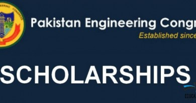 Pakistan Engineering Congress Scholarship 2021, educationbite.com