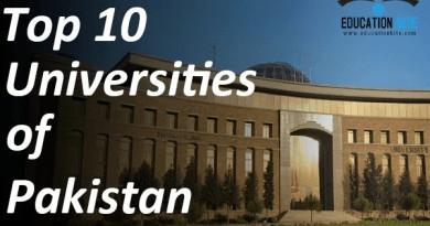 Top 10 Universities in Pakistan 2021-2022, educationbite.com