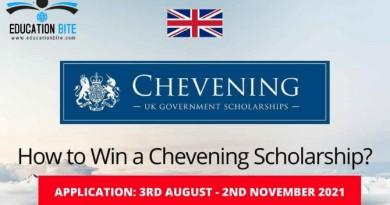 British Government Chevening Scholarship 2021, educationbite.com