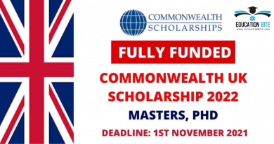 Commonwealth Fully Funded Scholarship s2022, educationbite.com