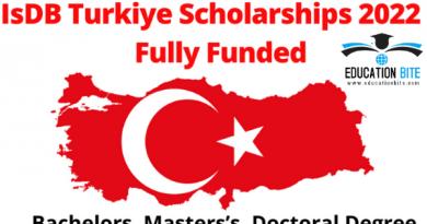 Turkiye-IsDB Fully-Funded Scholarship Program 2022, educationbite.com